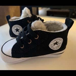 Converse Baby shoes with Faux Fur